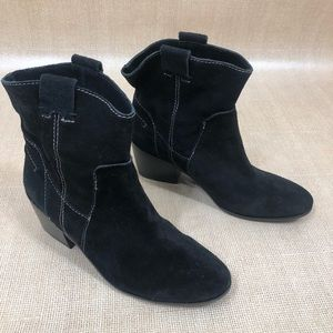 Vince Camuto Size 9.5 M Black Leather Booties